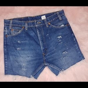 Levi's Shorts - Vintage Levi's Mom shorts cutoffs 517 orange tab